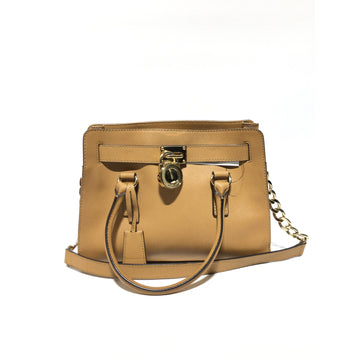 MICHAEL KORS//Hand Bag/BEG/Leather/Plain