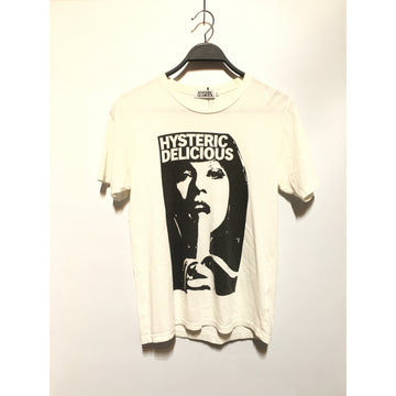 HYSTERIC GLAMOUR/M/T-Shirt/WHT/Cotton/Plain