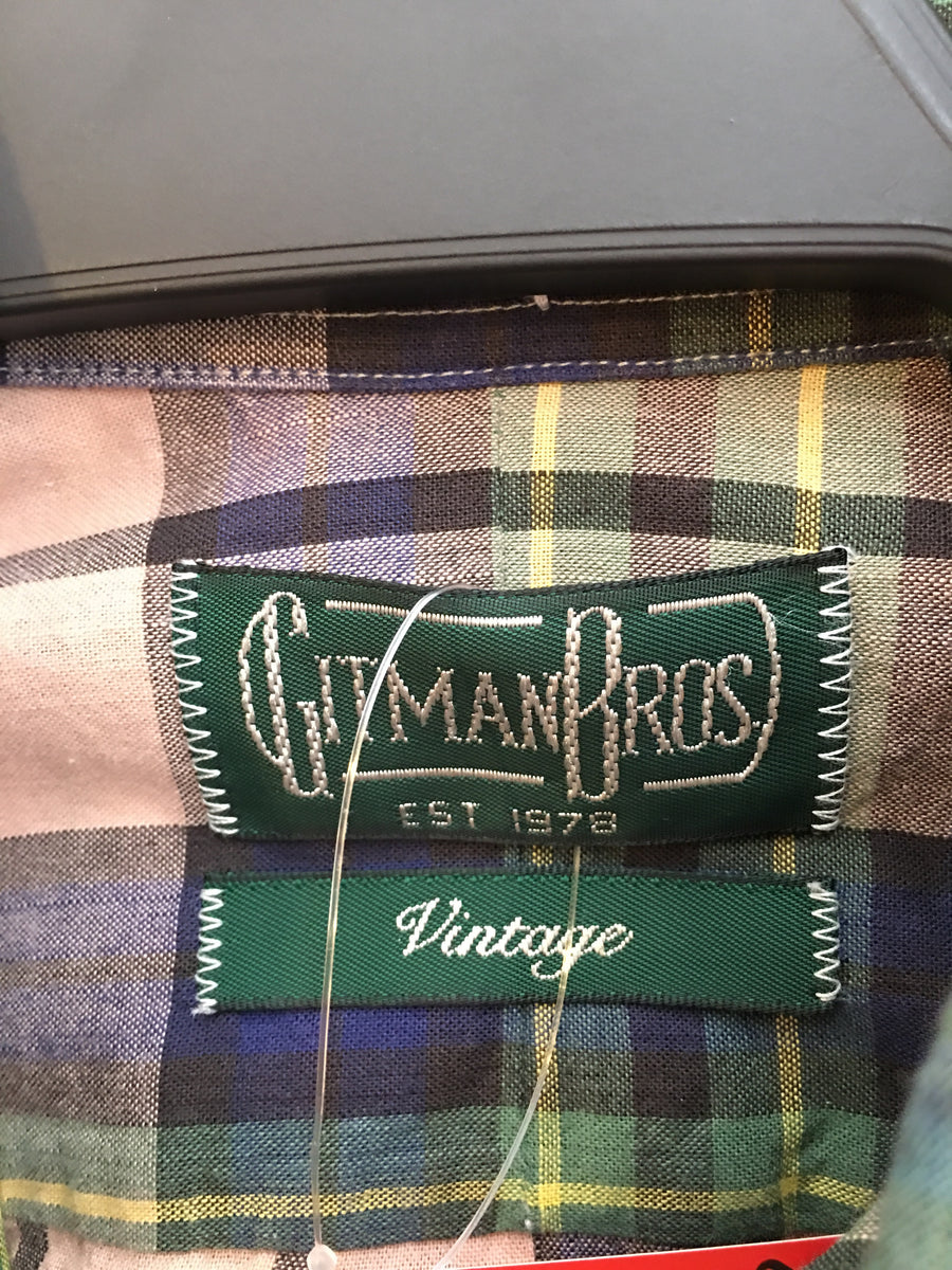 GITMAN BROTHERS/SS Shirt/S/Cotton/GRN/Plaid