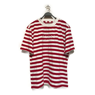 GUESS//T-Shirt/L/RED/Cotton/Stripe