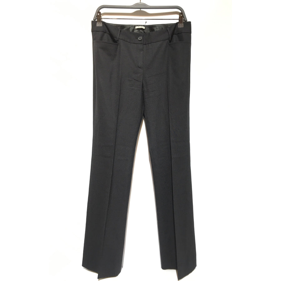 MIU MIU/42/Straight Pants/BLK/Polyester/Plain