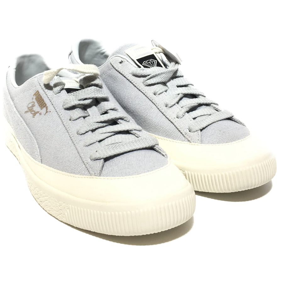 PUMA/CLYDE DIAMOND/365651-02/US10/Low-Sneakers/GRY/Others/Plain