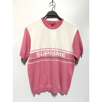 Supreme/M/Sweater/PNK/Cotton/Stripe