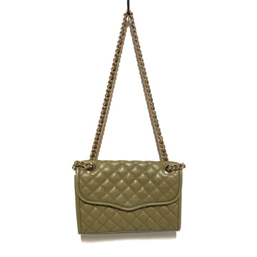 REBECCA MINKOFF//Cross Body Bag//GRN/Leather/Plain