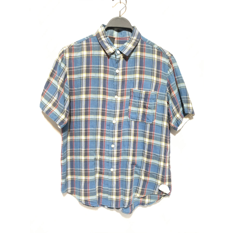 N.HOOLYWOOD/SS Shirt/46/Cotton/BLU/Plaid
