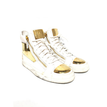 Giuseppe ZANOTTI/US8/Hi-Sneakers/WHT/Leather/Plain