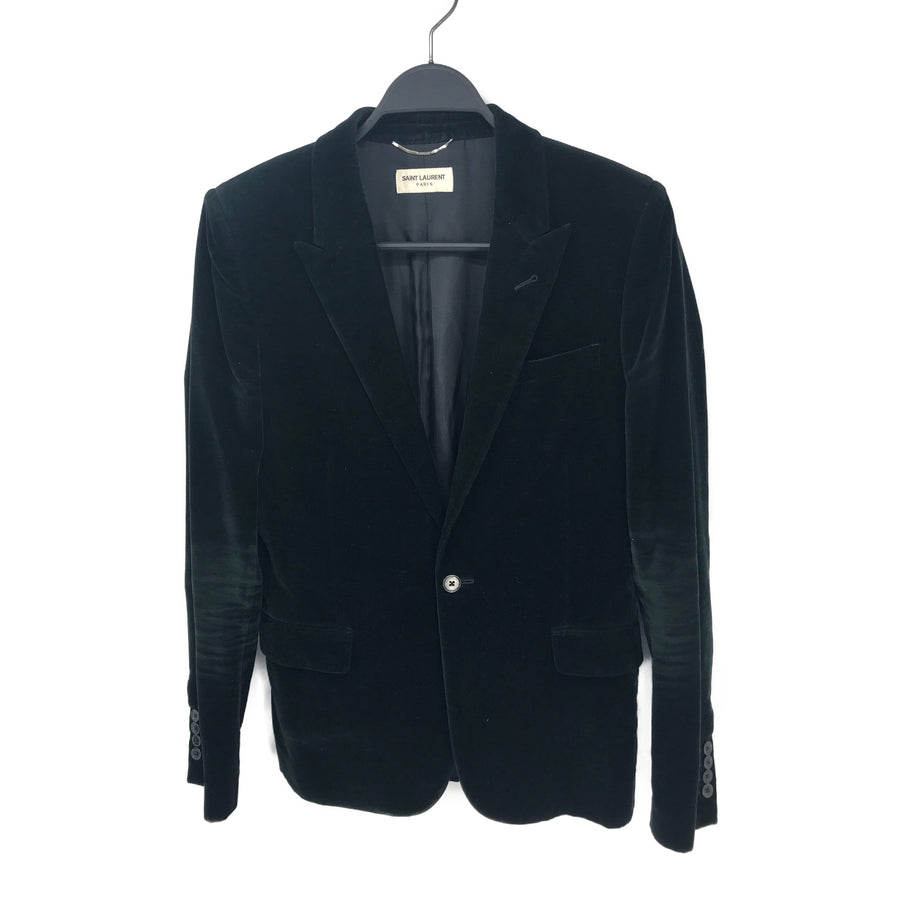 SAINT LAURENT//Jacket/SMALL/BLK/Cotton/Plain