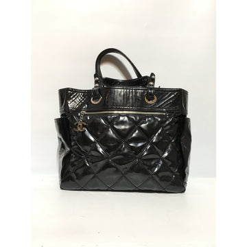 CHANEL//Hand Bag/BLK/Acrylic/Plain