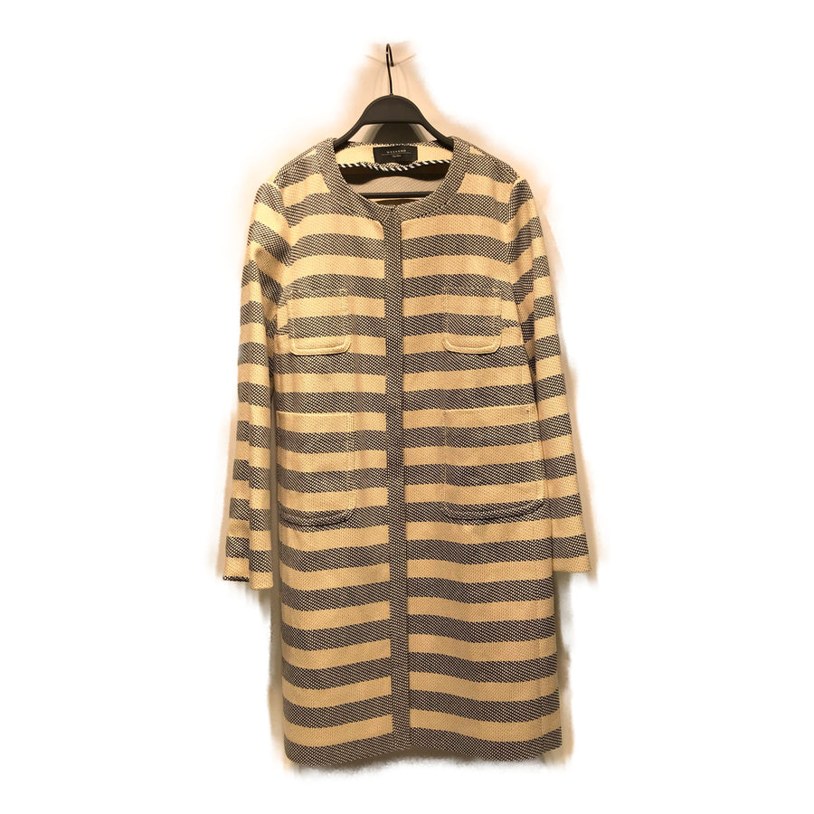 MAX MARA WEEK END LINE//Coat/10/WHT/Cotton/Stripe