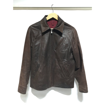 Paul Smith/M/Leather Jkt/BRW/Leather/Plain