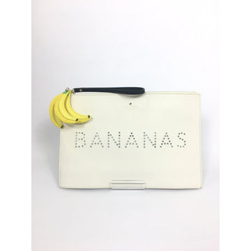 KATE SPADE//Clutch Bag/CRM/Leather/Graphic