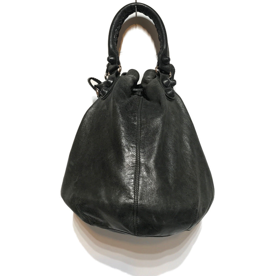 BALENCIAGA//Tote Bag//BLK/Leather/Plain