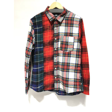 STUSSY/M/Flannel Shirt/MLT/Cotton/Plaid