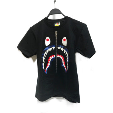 BAPE//T-Shirt/S/BLK/Cotton/Graphic