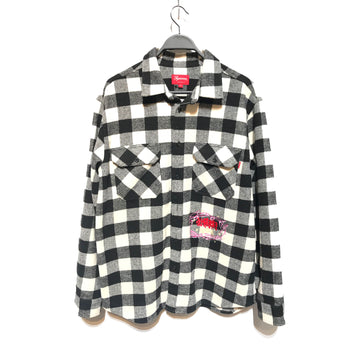 Supreme/1 800 SUPREME/Flannel Shirt/EXTRA LARGE/WHT/Cotton/Plaid
