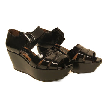 MARNI//Sandals/EU37/BLK/Leather/Plain