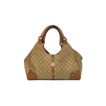 GUCCI/HANDBAG/Hand Bag//BEG/Cotton/Monogram
