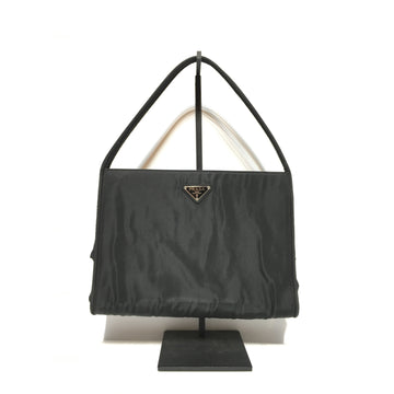 PRADA//Hand Bag/BLK/Nylon/Plain