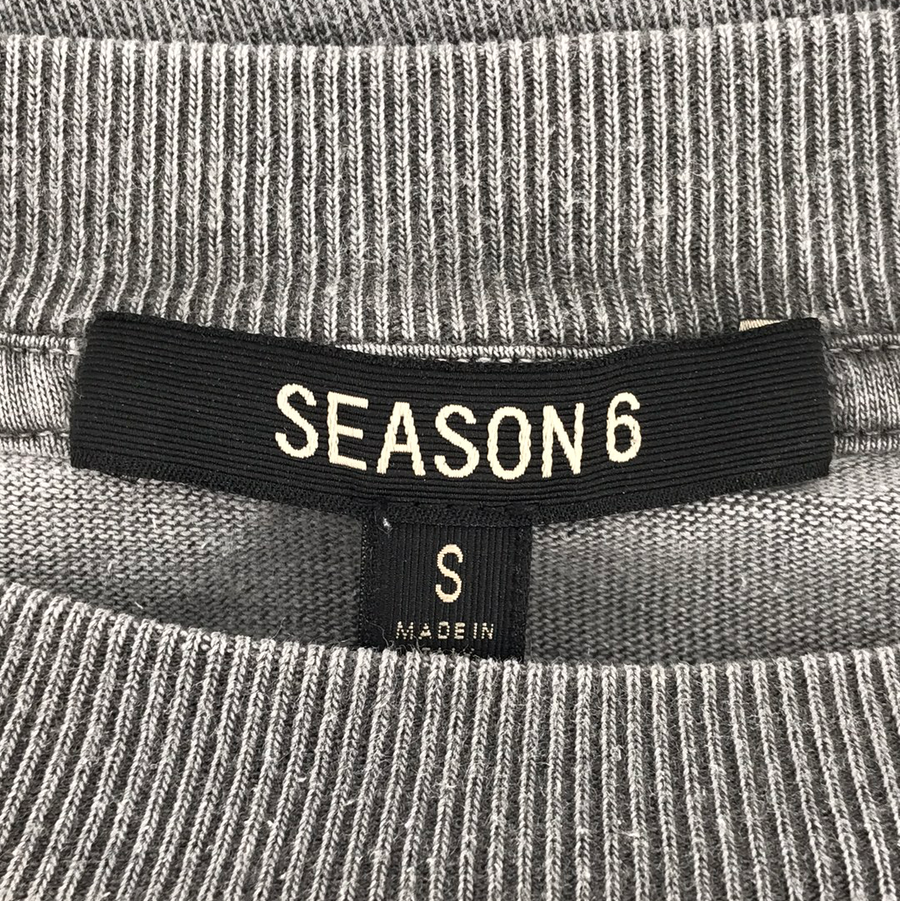 YEEZY/SEASON 6 CALABASAS/LS T-Shirt/S/GRY/Cotton/Plain