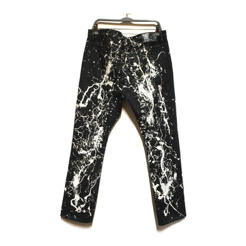 Helmut Lang/PAINT SPLATTER/Pants/34/BLK/Denim/All Over Print