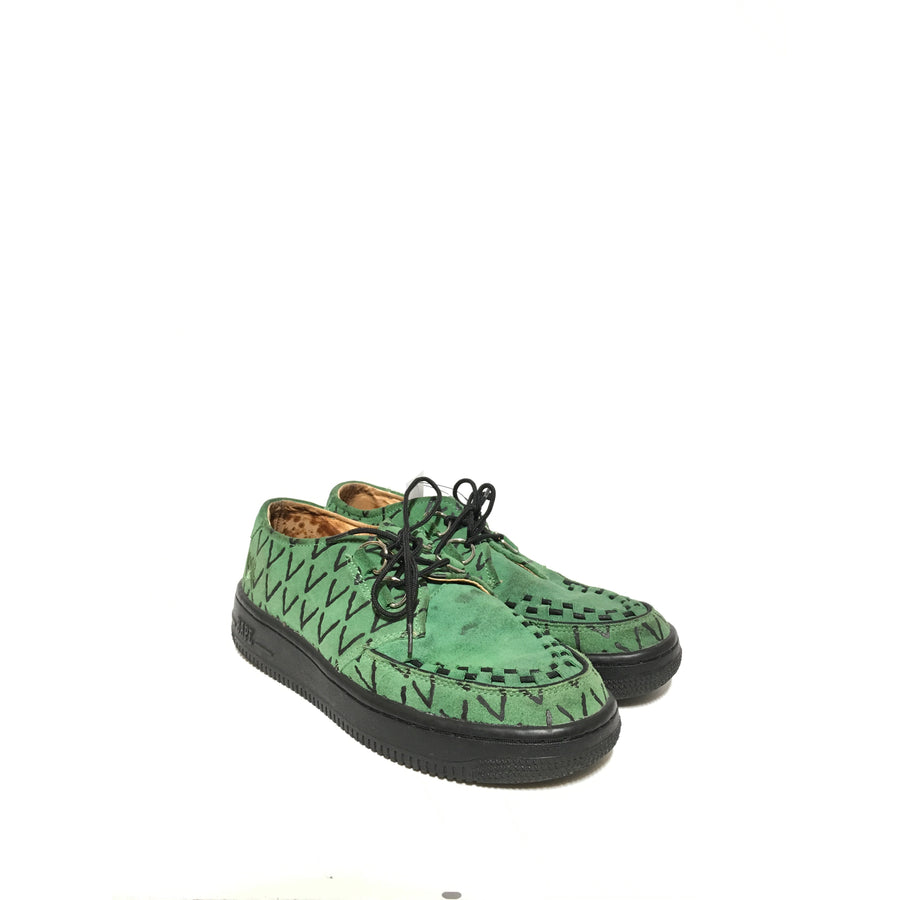 A BATHING APE/9.5/Loafers/GRN/Suede/All Over Print