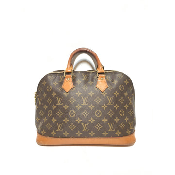 LOUIS VUITTON/ALMA/Hand Bag/BRW/Leather/Monogram