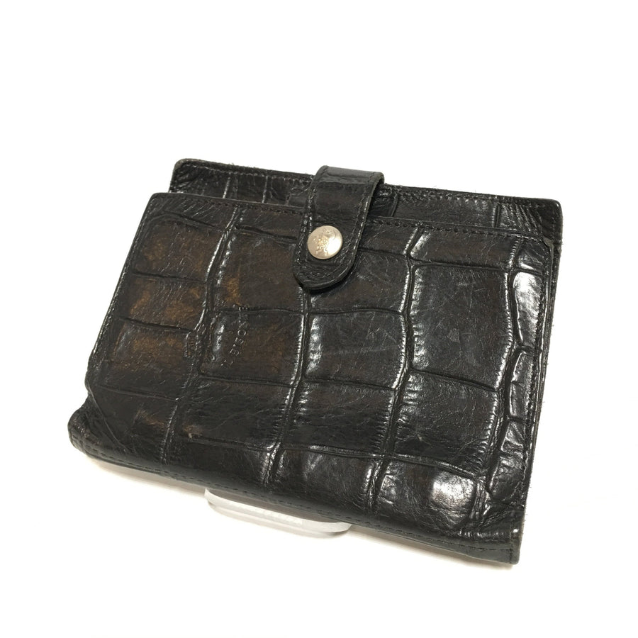 IL BISONTE/Diary Cover/BLK/Leather