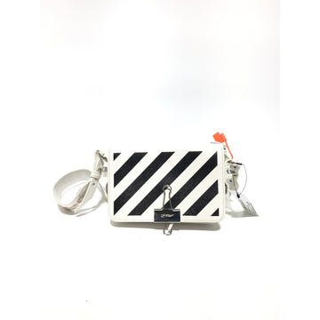 OFF-WHITE//Cross Body Bag/WHT/Leather/Stripe