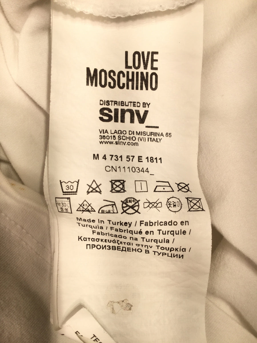LOVE MOSCHINO/L/T-Shirt/WHT/Cotton/Plain