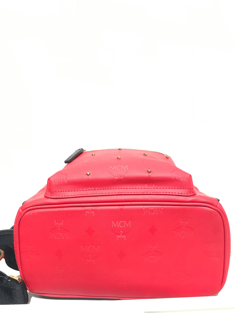MCM//Backpack//RED/Leather/Plain