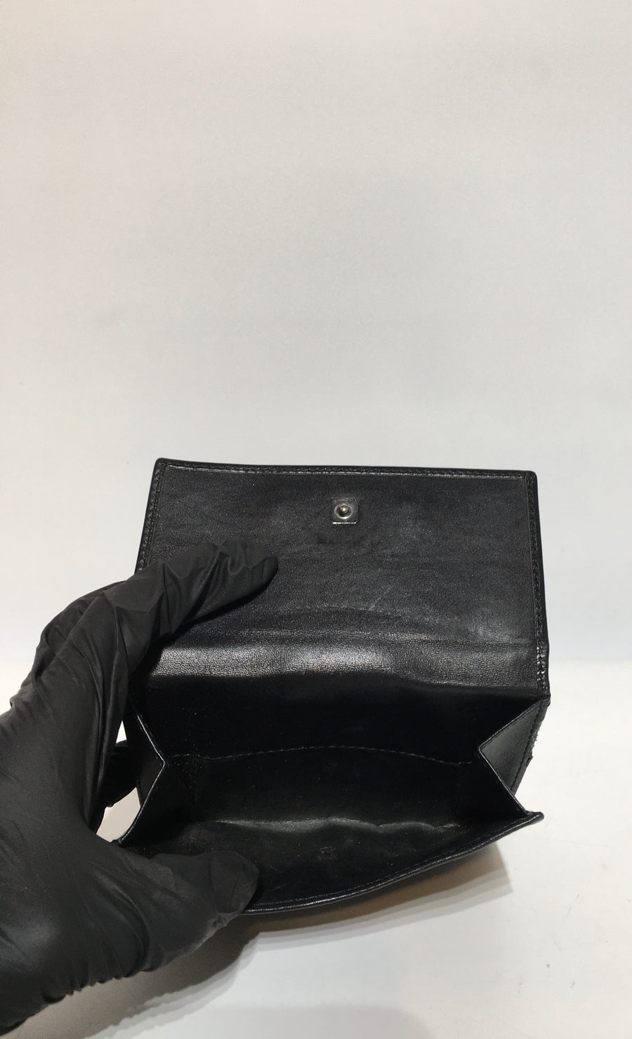 GUCCI/Bifold Wallet/Canvas/BLK/All Over Print