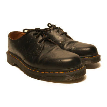 Dr.MARTENS/BAPE X EMBOSS 1461/Shoes/10/BLK/Leather/Plain
