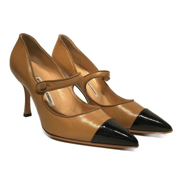 MANOLO BLAHNIK//Heels/EU37.5/CML/Leather/Plain