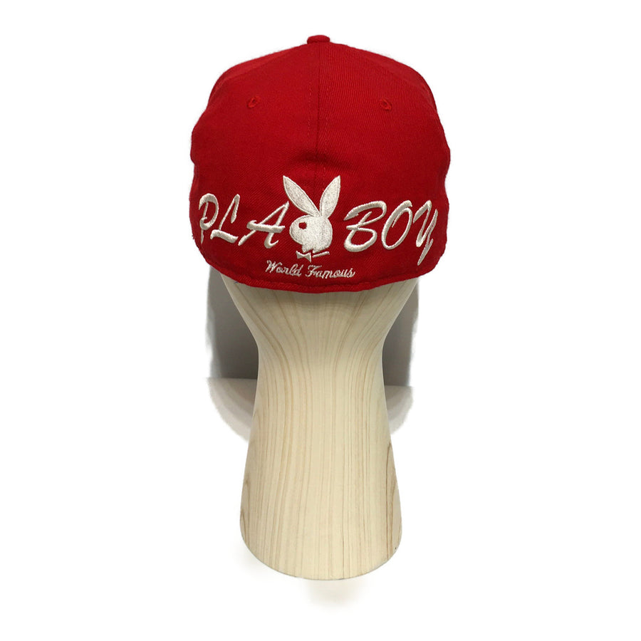 Supreme/PLAYBOY/Hat/7 3/8/RED/Cotton/Graphic