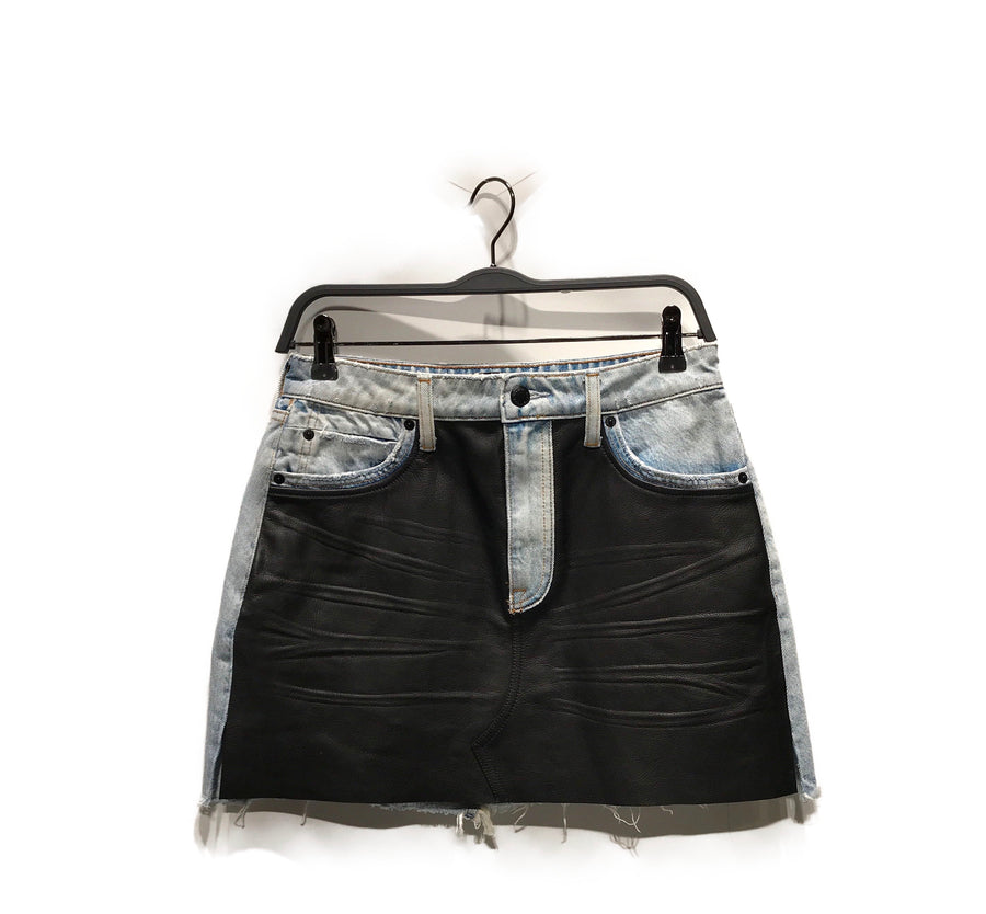 Alexander Wang//Skirt/27/IDG/Denim/Plain/Mini Length