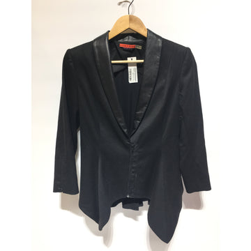 Alice and Olivia/S/Jacket/BLK/Cotton/Plain