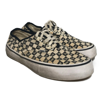Supreme/SUPREME VANS /Low-Sneakers/US10.5/WHT/Cotton/Monogram
