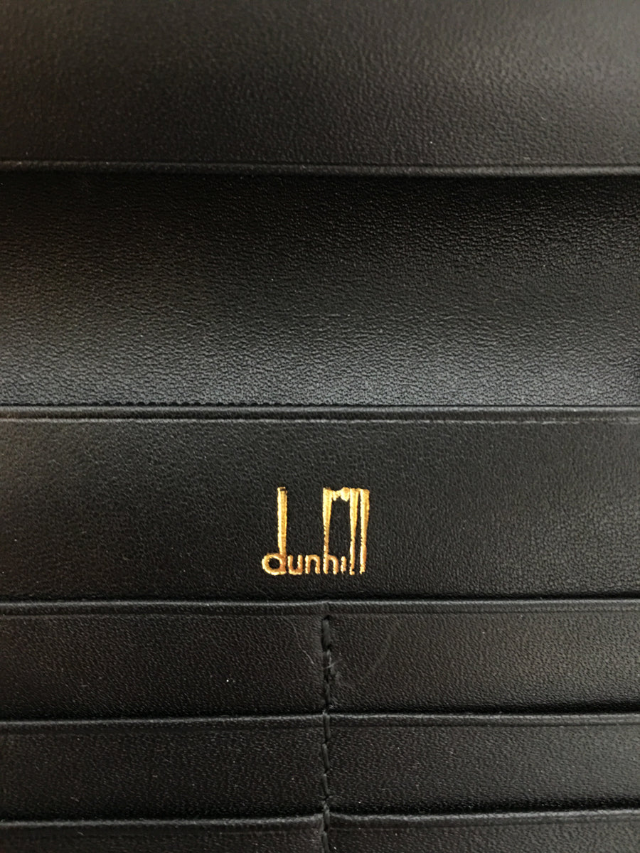 dunhill/Long Wallet/Leather/BLK