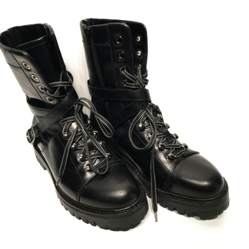 VALENTINO//Boots/381/2/BLK/Leather/Plain