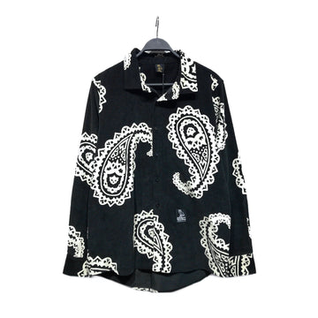 OCTOBERS VERY OWN(OVO)/PAISLEY CORDUROY/LS Shirt/M/BLK/Cotton/Paisley