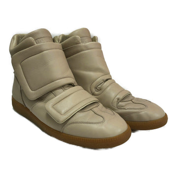 Maison Margiela//Hi-Sneakers/12/BEG/Leather/Plain