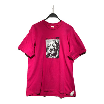 Supreme/REMEMBER TEE/T-Shirt/L/PNK/Cotton/Plain