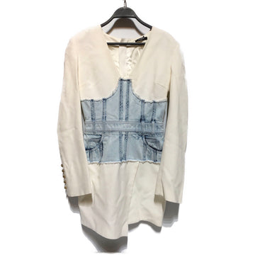 BALMAIN//Dress/36/WHT/Polyester/Plain