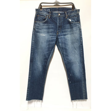 visvim/SOCIAL SCULPTURE/34/Straight Pants/IDG/Denim/Plain