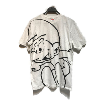 Supreme/SMURF /T-Shirt/L/WHT/Cotton/Graphic
