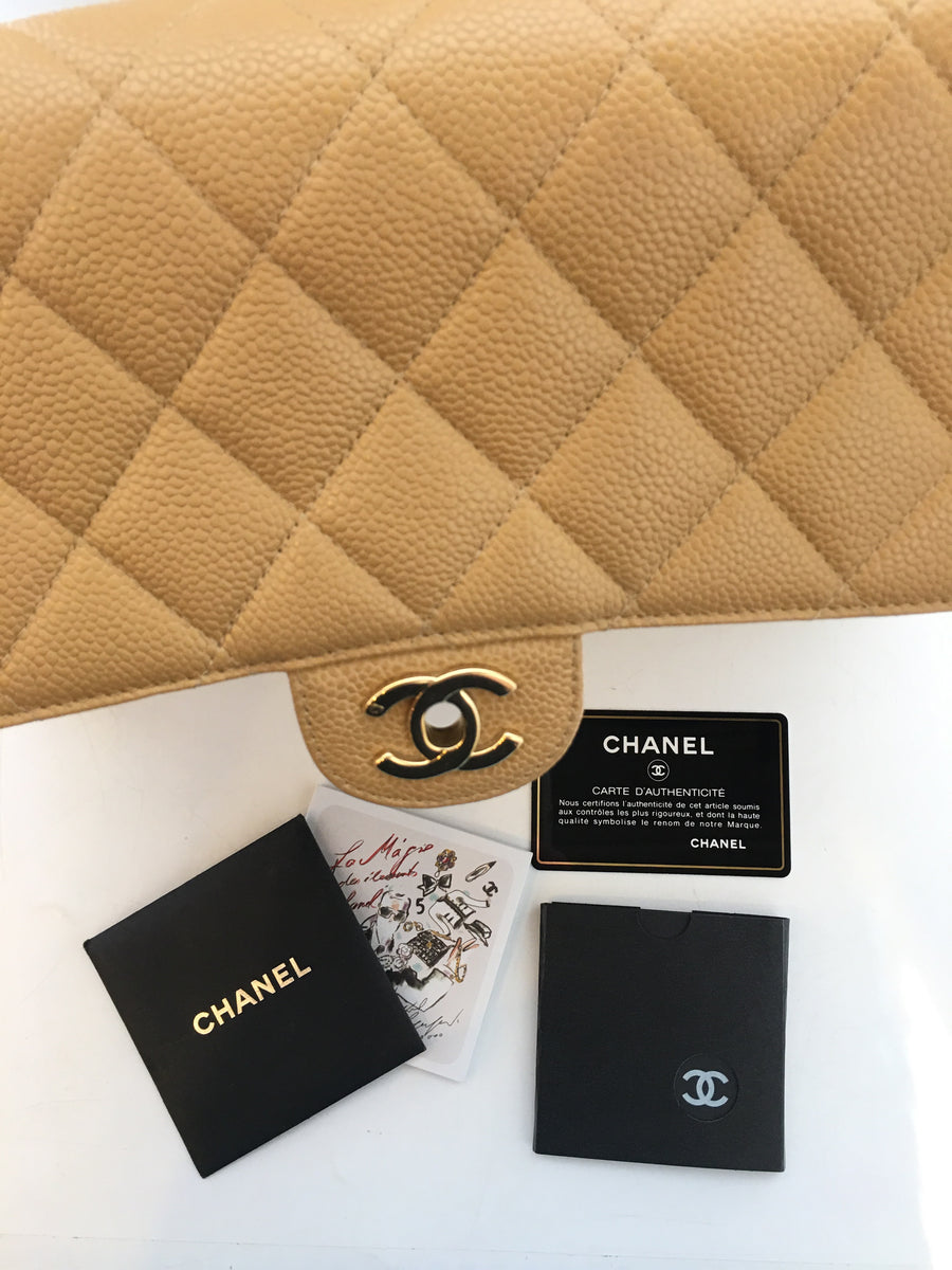 CHANEL/Matelasse/Hand Bag/BEG/Leather/Plain