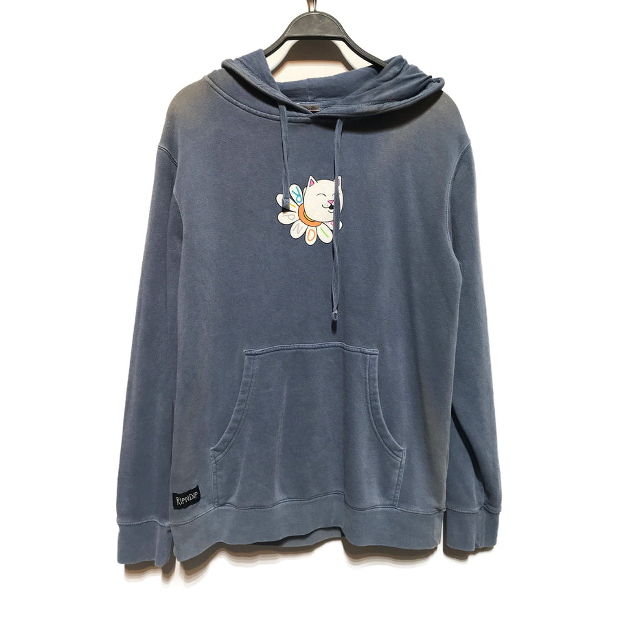 RIPNDIP/FLOWER PORTAL/Hoodie/./GRY/Cotton/Graphic