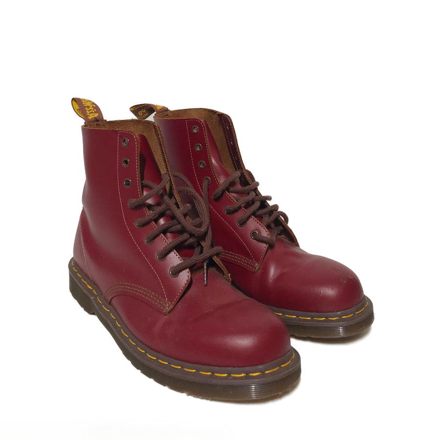 Dr.MARTENS/ENGLAND MADE /Boots/12/RED/Leather/Plain