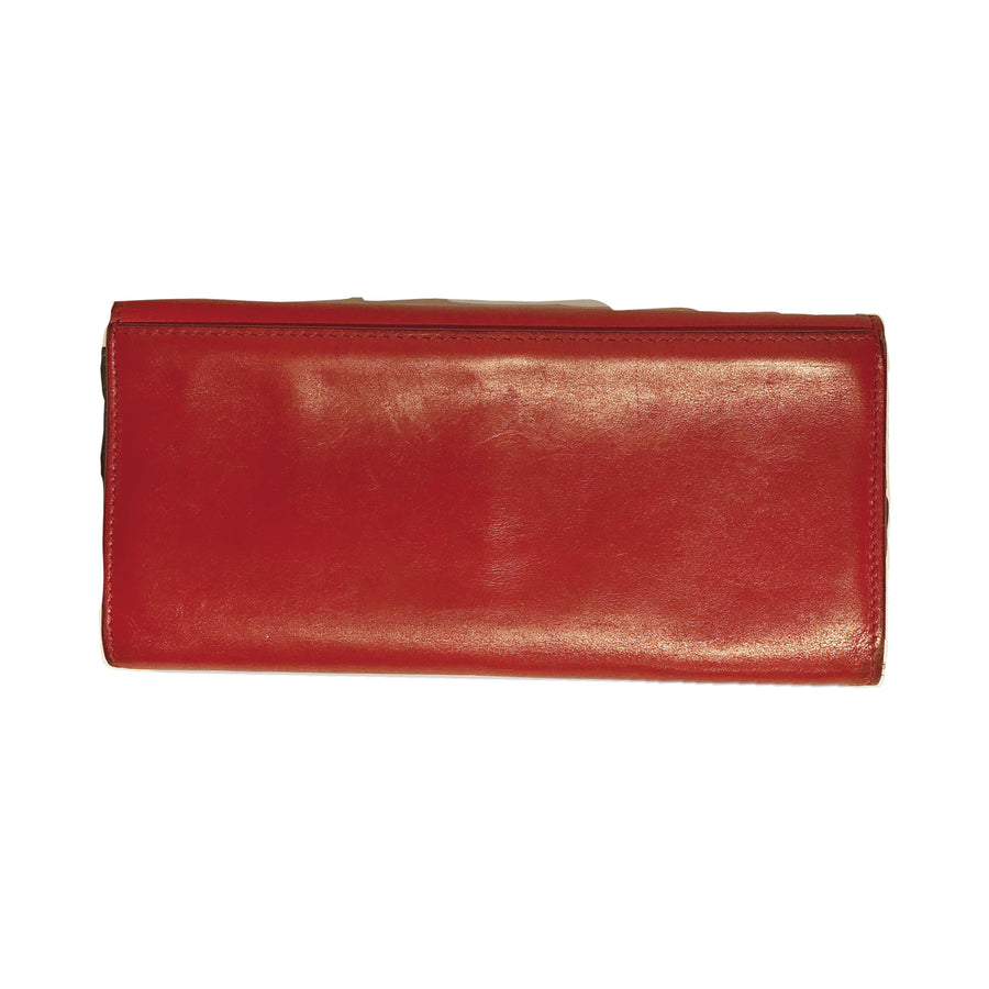 #CELINE/Long Wallet/RED/Leather
