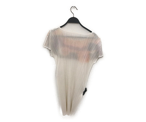 PLEATS PLEASE ISSEY MIYAKE/Tunic Dress/3/Polyester/WHT/Floral